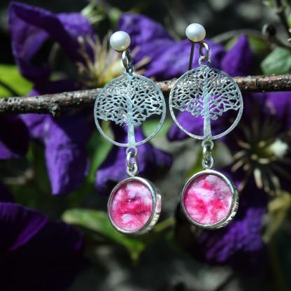 schmuck kaufen ohrhaenger bonsai 2 rosa 416x416 - Ohrhänger Bonsai (Farbauswahl)