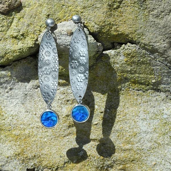 schmuck kaufen ohrhaenger fiori 2 blau 600x600 - Ohrhänger Fiori (Farbauswahl)