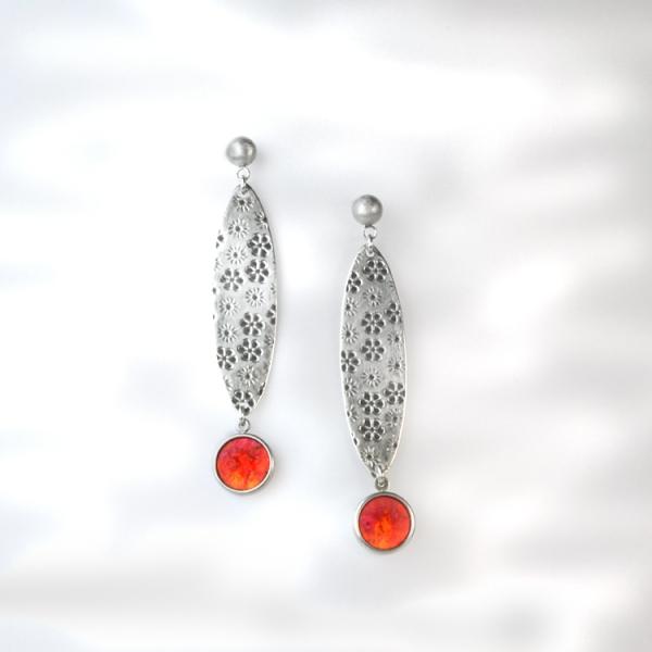 schmuck kaufen ohrhaenger fiori 3 orange - Ohrhänger Fiori (Farbauswahl)
