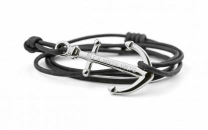 silber blk 416x260 - Anker Armband RALEIGH Leder vintage schwarz