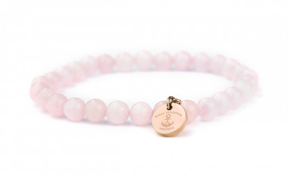 steinperlenarmband in rose 416x260 - Steinperlen Armband ROSE rosé