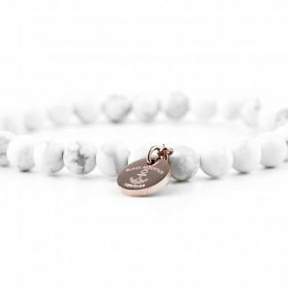weiss 324x324 - Steinperlen Armband HOWL weiß