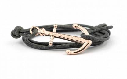 wickelarmband mit anker armband rose grau 2 416x260 - Anker Armband NATHAN Leder antik grau