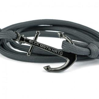 wickelarmband mit anker grau schwarz 324x324 - Anker Armband DRAKE grau