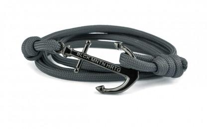 wickelarmband mit anker grau schwarz 416x260 - Anker Armband DRAKE grau
